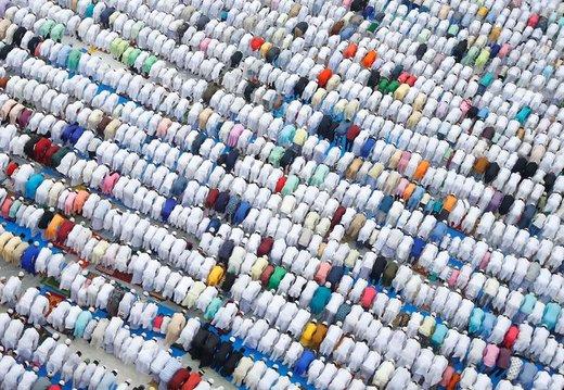 اقامه نماز عید فطر در شهر هاورا هند