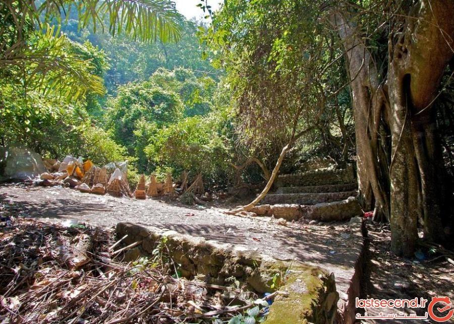 5204949 - گورستانی با قبرهای سرگشاده در بالی