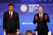 فیلم   لحظه سقوط رئیس جمهور چین از روی استیج جلوی چشم پوتین