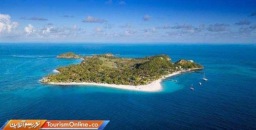 جزیره پالم در سنت وینسنت و گرنادینها(یک کشور جزیرهای کوچک در دریای کارائیب) شبی ۶۰۵ دلار