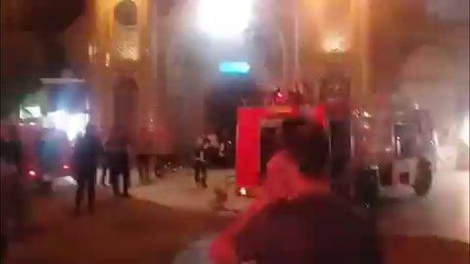 فیلم   آتش سوزی در حرم حضرت معصومه(س)