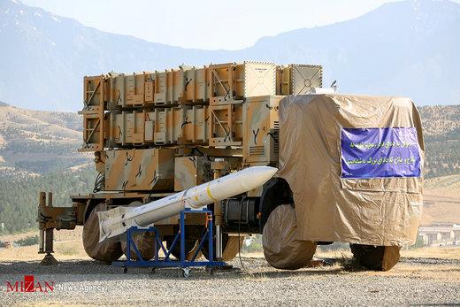 رونمایی از سامانه پدافند هوایی ۱۵ خرداد