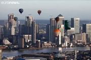 فیلم | پرواز ۴۶ بالن در آسمان لندن