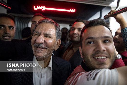 بازدید معاون اول رئیسجمهور از کارخانه واگنسازی تهران