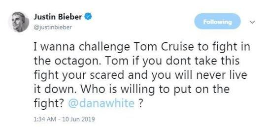 خواننده مشهور، تام کروز را به مبارزه دعوت کرد