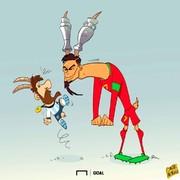 رونالدو و مسی باز هم شاخ به شاخ شدند!