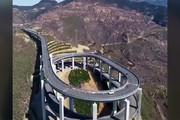 فیلم | شاهکار مهندسان چینی در کوهستان