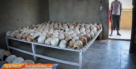 یادبود قتل عام در رواندا که به یاد ۸۰۰ هزار نفر کشته شده در ۱۰۰ روز بین آوریل تا جون سال ۱۹۹۴ رخ داده ،گذاشته شده است