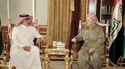 بارزانی با مقام سعودی در اربیل دیدار کرد
