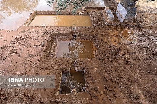 خسارت سیل در بخش کوهپایه شرق اصفهان