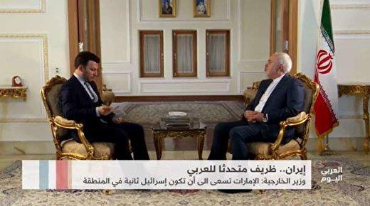 """ظريف لـ""""التلفزيون العربي"""": كل شيء وارد في ظل توتر الأوضاع بالمنطقة"""