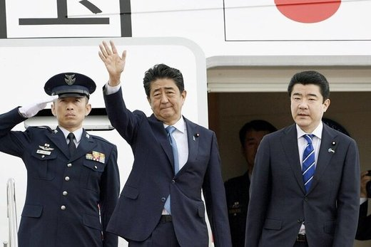 Japanese PM arrives in Tehran