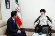 فیلم | رهبر انقلاب در دیدار با نخست وزیر ژاپن: ترامپ را شایسته مبادله پیام نمیدانم