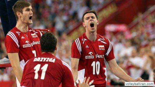 کنایه ملیپوش والیبال لهستان به کاهش پول ملی ایران/عکس