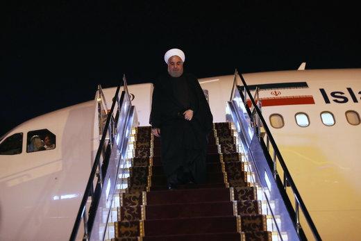 President Rouhani arrives in Bishkek to attend SCO Summit