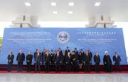 عکس یادگاری روحانی و سران ۱۱ کشور حاضر در اجلاس شانگهای