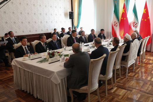 دیدار رئیسجمهور چین با روحانی