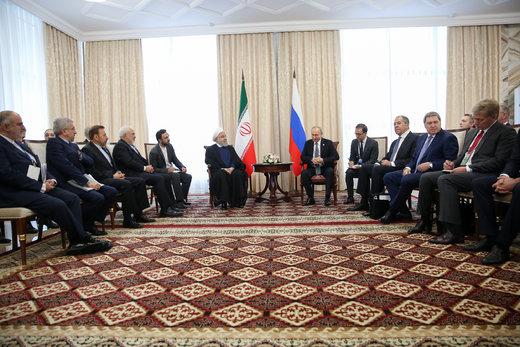 روحانی به پوتین: اقدامات ایران در چارچوب حقوق خود در برجام است