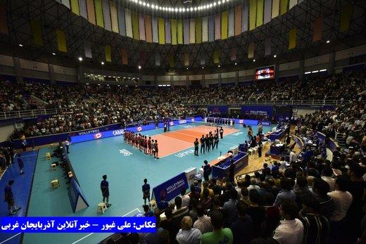 ادامه قدرتنمایی این بار در ارومیه: برد قاطع تیم ملی والیبال ایران برابر کانادا
