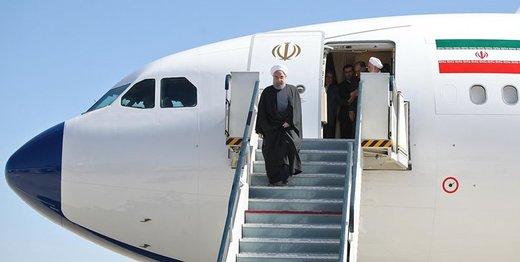 Rouhani arrives in Tajikistan