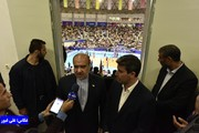 وزیر ورزش و جوانان به سالن غدیر ارومیه آمد/ عکس