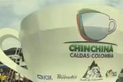 فیلم | رونمایی از بزرگترین فنجان قهوه در کلمبیا