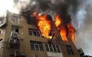 ساختمان ۵ طبقه در بلوار ابوذر تهران طعمه حریق شد