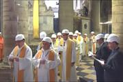 فیلم | اولین مراسم مذهبی در کلیسای نوتردام پس از آتشسوزی بزرگ