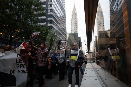 سوگواری هواداران محمد مرسی در نیویورک
