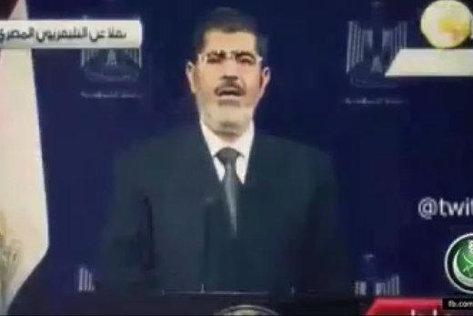 فیلم |  آخرین سخنان محمد مرسی قبل از خلع ید از قدرت در سال ۲۰۱۳
