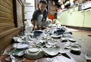 تصاویر | خسارات زلزله ۶.۸ ریشتری در ژاپن