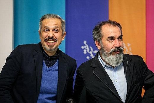 سیامک انصاری و جواد رضویان در نمایی از سریال «صفر بیستویک»