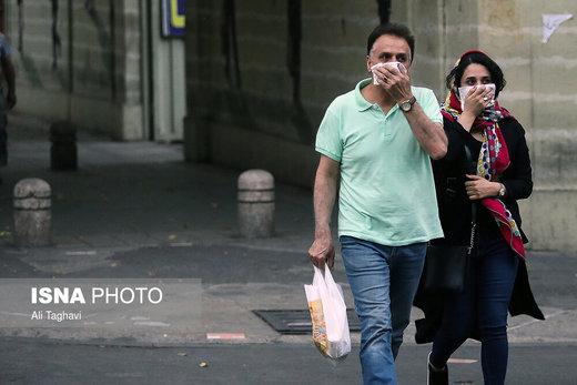 وزش باد نسبتا شدید در تهران/ هوا در آستانه شرایط ناسالم