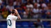 اخراج لیونل مسی در بازی با شیلی