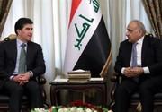 دیدار نخست وزیر عراق با بارزانی