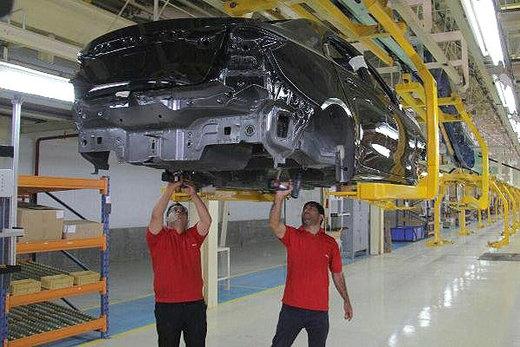 افت چشمگیر تولید خودرو