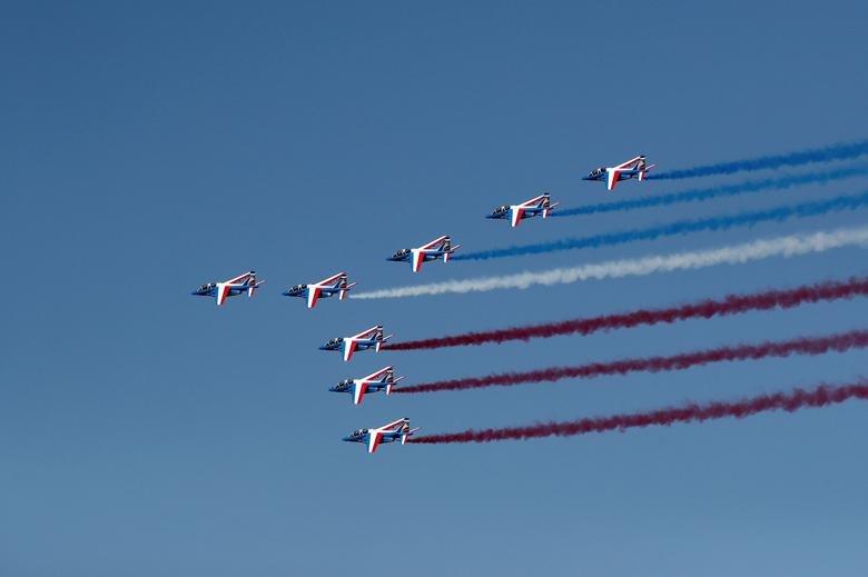 تصاویر | مانور هوایی جتهای فرانسوی در نمایشگاه پاریس ۲۰۱۹