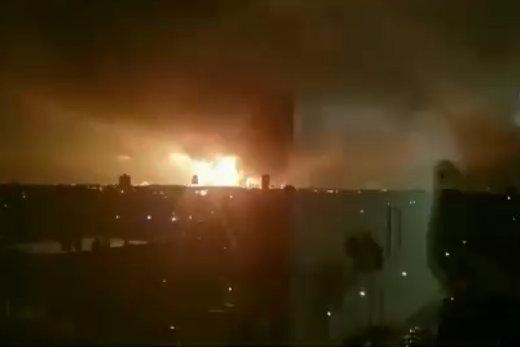 فیلم | انفجار مهیب در پالایشگاه نفت فیلادلفیا