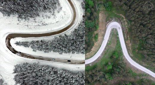 ترکیبی از زمستان و تابستان در ترکیه