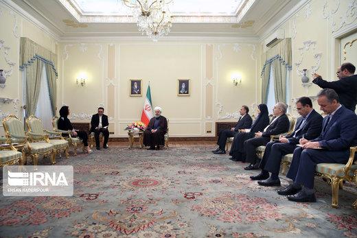 دیدار رئیس اتحادیه بینالمجالس جهانی با رئیسجمهور