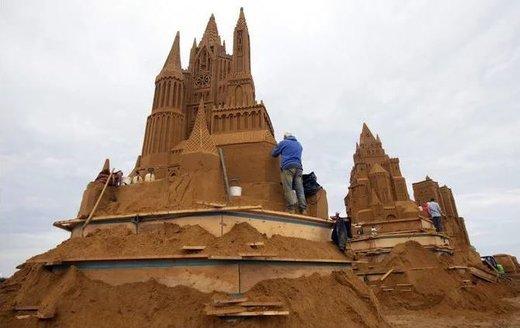 جشنواره مجسمههای شنی در بلژیک
