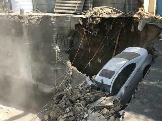 ریزش مرگبار ساختمانی در خیابان طالقانی/ عکس