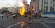 انفجار لوله گاز در فردیس به دلیل نشست زمین