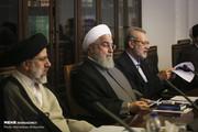 عکسی از روحانی در جلسه شورای عالی انقلاب فرهنگی/ پاستور میزبان شد