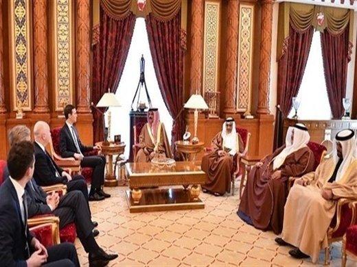 کوشنر پیام ترامپ را به پادشاه بحرین منتقل کرد