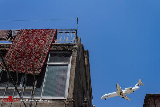 غرش پرندگان آهنین در سی متری جی