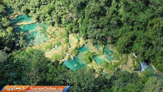 پدیده طبیعی سموک چامپی در گواتمالا