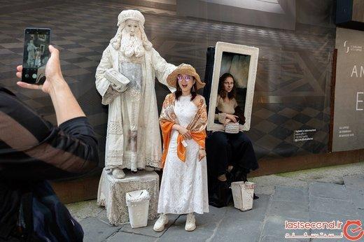 لئوناردو داوینچی هنوز در بعضی از خیابانهای دنیا قدم میزند!