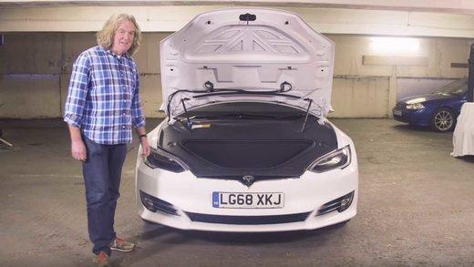 فیلم   بررسی خودروی تسلا مدل S P100D از دیدگاه جیمز می، مجری محبوب تخته گاز