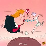 حمله فوتبالیست مشهور به ترامپ!